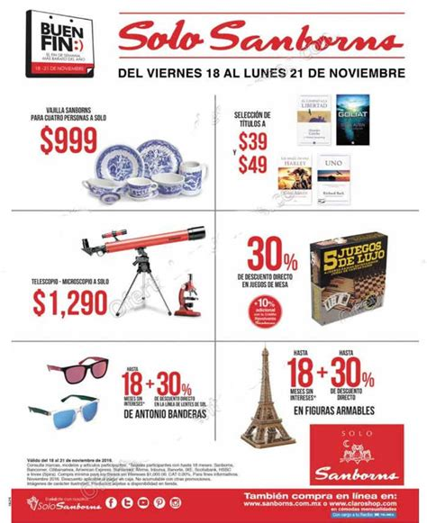 ofertas del buen fin 2016 folleto de ofertas del buen fin 2016 en sanborns