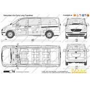 The Blueprintscom  Vector Drawing Mercedes Benz Vito Extra Long
