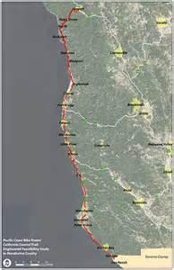 california coastal trail map california coastal trail map california map