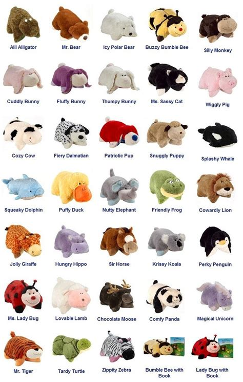Pillow Pets Names by Pillow Pets