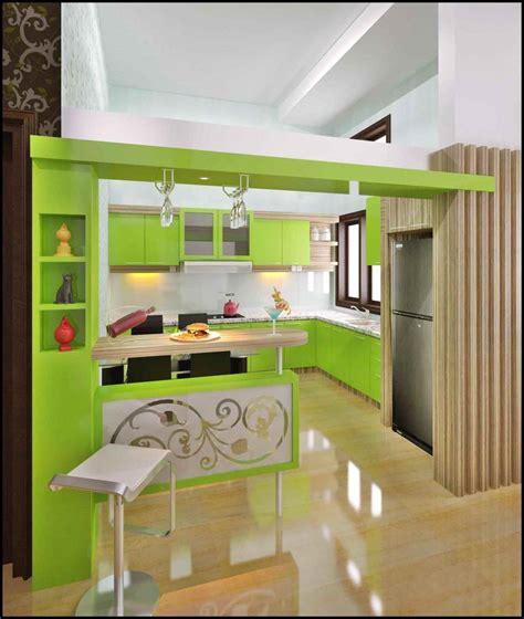 design dapur menyatu  taman wallpaper dinding