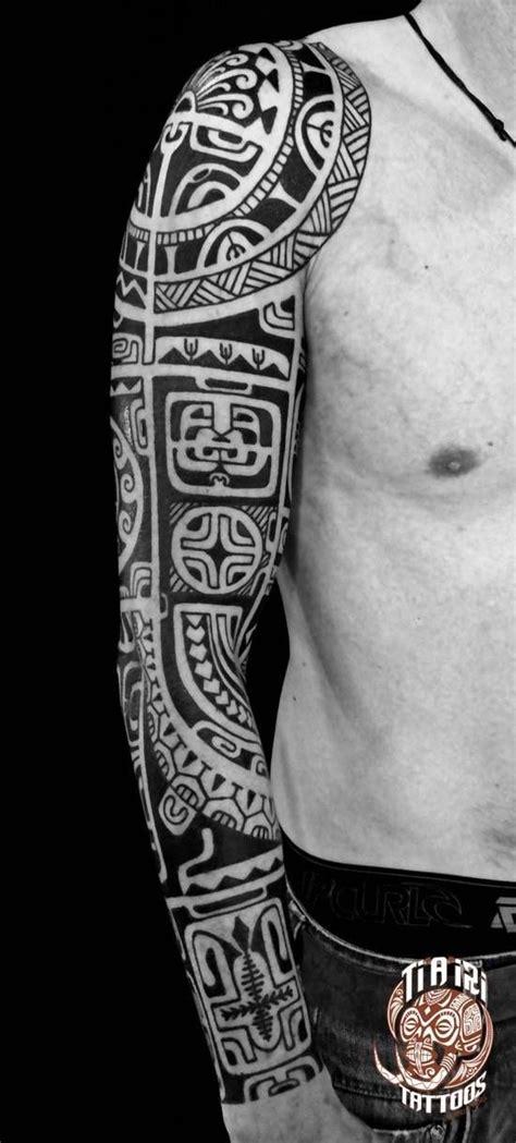 tattoo hawaiian arm polynesian sleeves arm tattoos po oino yrondi po oino