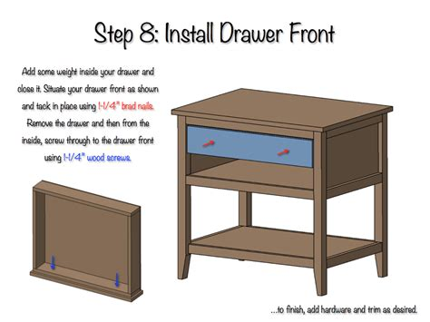 Free Diagram Drawer by Diy Bedside Table With Drawer And Shelf Free Plans