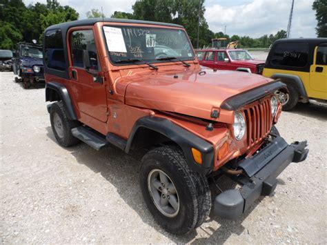 orange jeep wrangler 2001 jeep wrangler sport orange