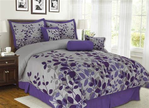 kinglinen queen comforter sets 1000 ideas about purple and grey bedding on pinterest
