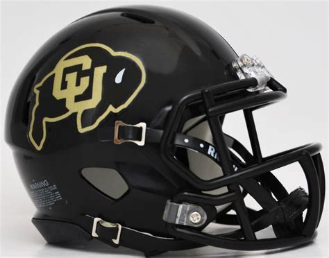 College Football Helmet Design History | colorado buffaloes ncaa mini speed football helmet quot black