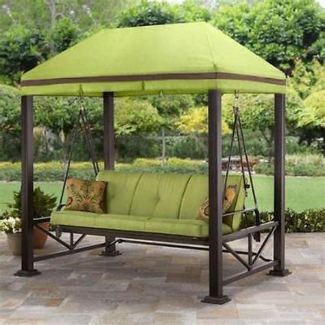 gazebo swing swing gazebo outdoor covered patio deck porch garden