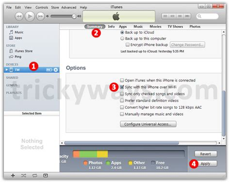 how to sync iphone wifi set up wifi syncing for iphone ipod touch iphone