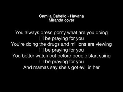 havana lyrics miranda havana lyrics youtube