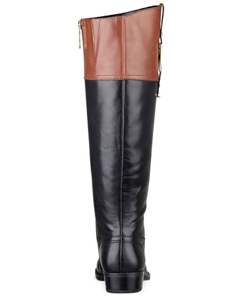 black riding lyst tommy hilfiger women s gibsy tall riding boots in black