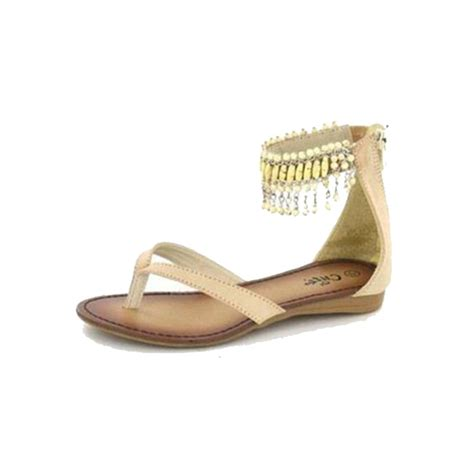 beaded toe sandals childrens beaded ankle flat toe post sandals ebay