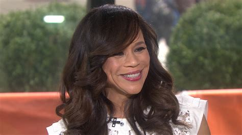 rosie perezs hair is it real or wig rosie perez admits crush on fish in the dark co star