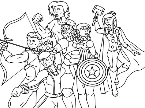 avengers group coloring pages the avengers group coloring page coloring pages