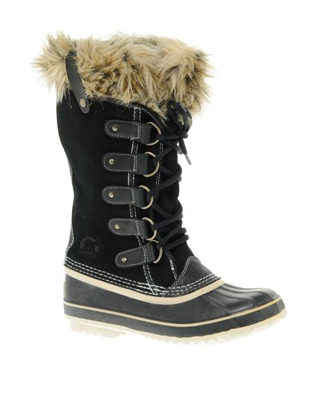 joan of arctic sorel boots sorel joan of arctic boots in black lyst