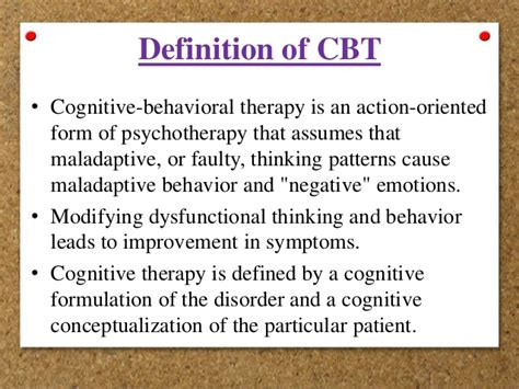 cognitive biography definition basic assumptions principles of cognitive behavior therapy