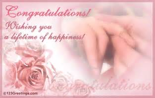 Congrats Engagement Card A Lifetime Of Happiness Free Engagement Ecards Greeting Cards 123 Greetings