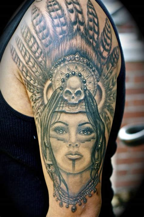 aztec girl tattoos aztec tattoos www pixshark images galleries