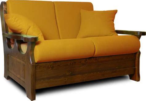 divanetti in legno divano rustico 2 posti fisso con struttura interamente in