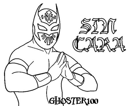 sin sin cara mask coloring pages