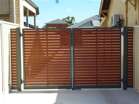 slat fencing  adelaide wooden gates driveway