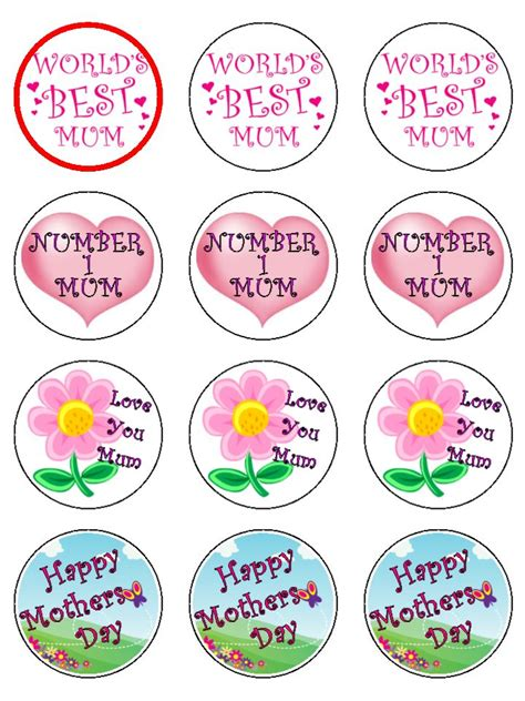 Craft Decorating Ideas Your Home by Mothers Day Cupcake Toppers X 12 D73