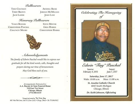 edwin tiny paschal obituary aa rayner and sons funeral home