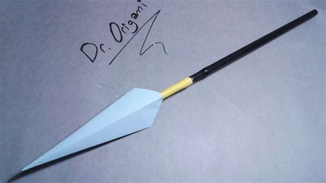 How To Make A Paper Spear - diy how to make a paper spear easy tutorial