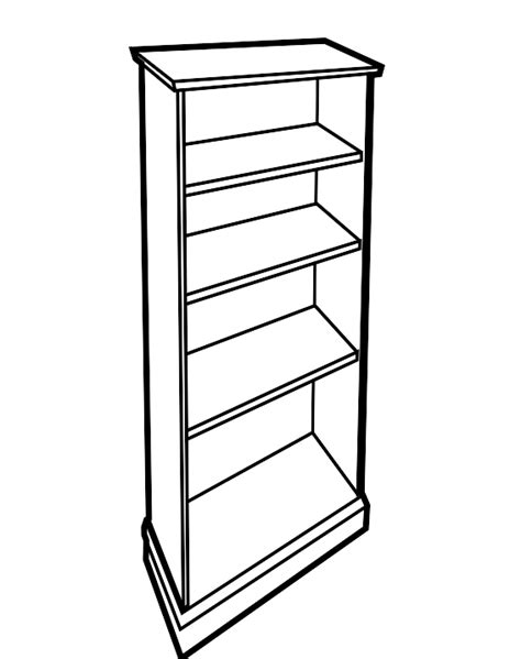 bookcase clipart black and white clipartfest