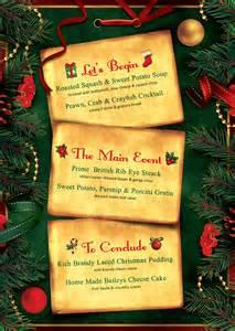christmas eve menu template psd v2
