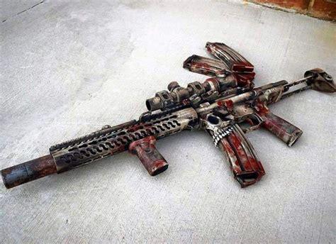 pin  jimmy lessner  guns guns zombie guns custom guns