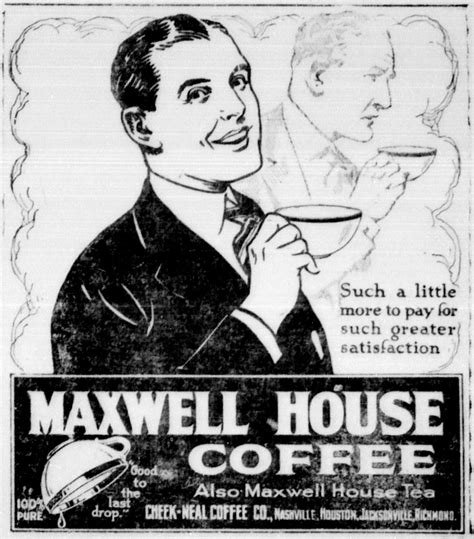 File:Maxwell house coffee newspaper ad 1921   Wikimedia Commons