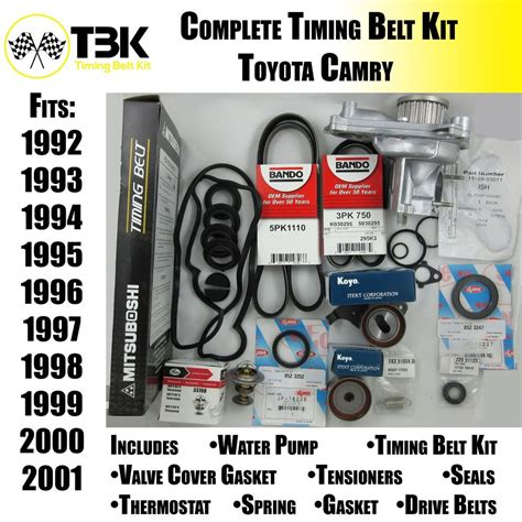 2001 Toyota Camry Timing Belt Toyota Camry Timing Belt Kit Complete With Water Fits