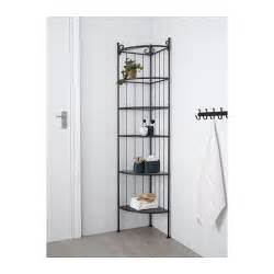 Corner Metal Etagere R 214 Nnsk 196 R Corner Shelf Unit Black Ikea