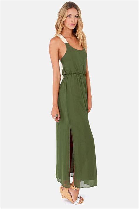 Army Maxi Dress pretty army green dress maxi dress backless dress 48 00