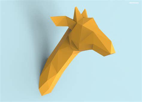 Giraffe Papercraft - giraffe papercraft pdf pack 3d paper sculpture template