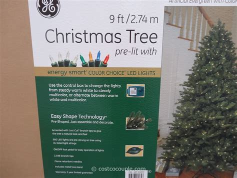 ge 9 ft prelit led tree