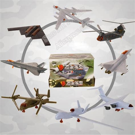 Kaos 4d Versi 6 Helicopter 4d 4d third generation 8 models aircraft j 20 stealth fighter b 2 bomber ospreys helicopter plastic