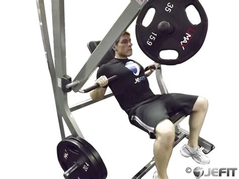 chest bench press machine cable incline press on exercise ball exercise database