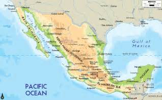 america map mexico physical map of mexico and central america images