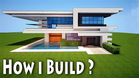 minecraft modern house designs minecraft birth of a modern house how i come up with house mansion ideas