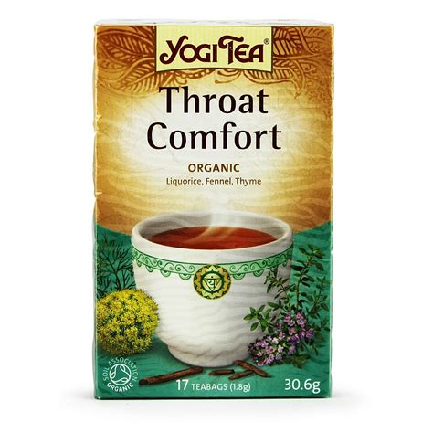 throat comfort tea yogi throat comfort tea 17 bags buy whole foods online