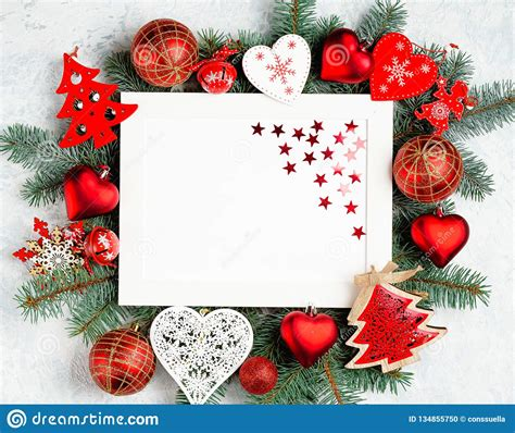 merry christmas  happy  year card  red decoration stock photo image  gift email