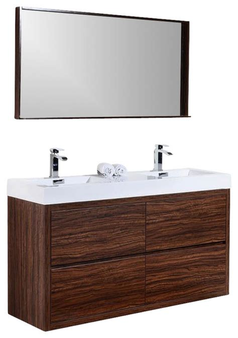 bliss 59 quot free standing sink modern bathroom vanity