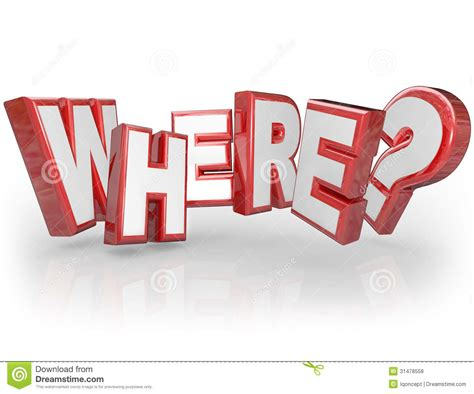 the official word of askcom where 3d word red letters mystery location question mark