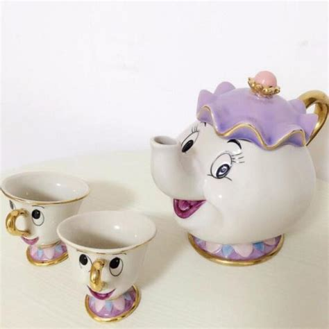 beauty and the beast pot 1 pot 2 cups beauty and the beast mrs potts chip