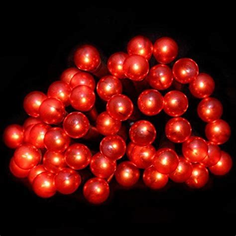 50 Red Berry Led Christmas Indoor Lights New Ebay Berry Lights