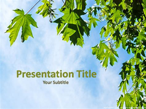 herbal powerpoint templates themes