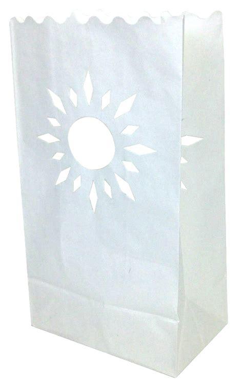 Luminaries Paper Bags - paper candle bag luminaries summer sun 10 pack