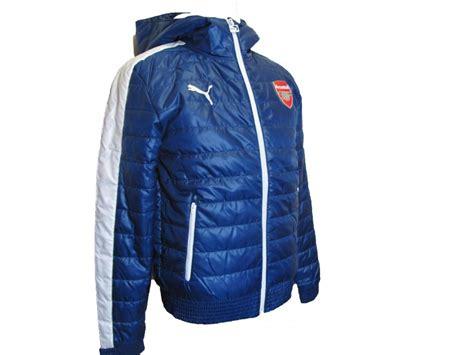 Sweater Half Zipper Arsenal Blue 3rd arsenal fc jacket mens blue padded t7 hooded football coat 2014 15 ebay