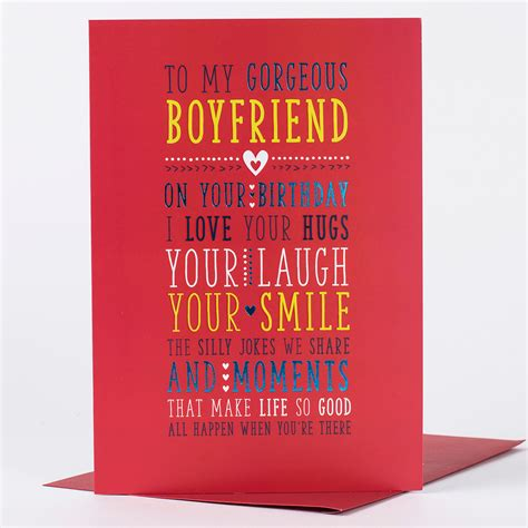 printable birthday cards for a boyfriend birthday card for my boyfriend only 89p
